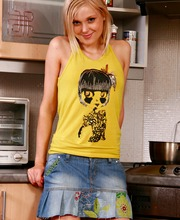 Somethings hot in the kitchen and its this sweet naked teen from Nubile Girls HD